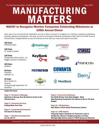 Manufacturing Matters - May 2019 - MACNY